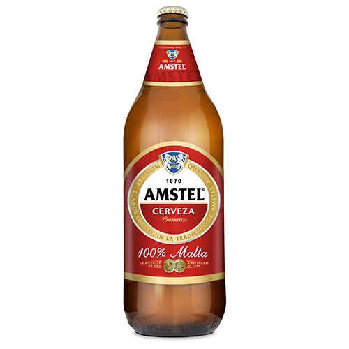 Cerveza Amstel Botella Cristal 1L