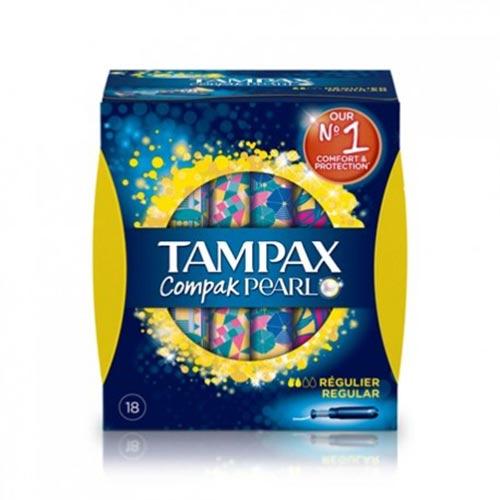 Tampax Compak Pearl Regular 18 Uds